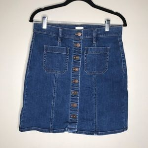 J Crew button down denim skirt Size 4